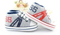 Free shipping! 2013 baby boy prewalker shoes,infant anti-slip shoes ,good quality soft sole baby prewalker.3 pairs/lot