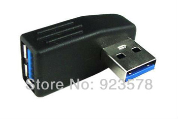 WHOLESALE 50pcs/lot High Quality USB 3.0 Vertical Cable Adapter Extender M/F