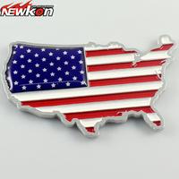 American flag three-color 3d aluminum alloy emblem stereo car stickers