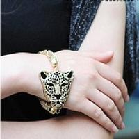 E0508 fashion accessories popular exquisite tassel bracelet luxury leopard head 27g