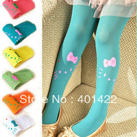 free shipping! 6pcs/lot baby girls' pantyhose Hello Kitty  tights kid's tights candy girls' pants kid's pantyhose
