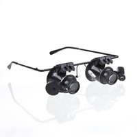 High quality Archaeological style Collectors Glasses Type 20X Watch Repair Magnifier with LED Light /Glasses Magnifier