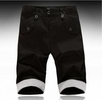 2013 New Men's short pants,Korea Style All Matching Color Seven Inch Pant For Men Black XL/XXL WL13081706