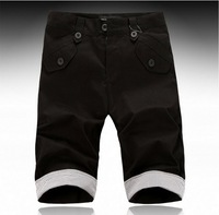 2013 New Men's short pants,Korea Style All Matching Color Seven Inch Pant For Men Black XL/XXL WL13081706