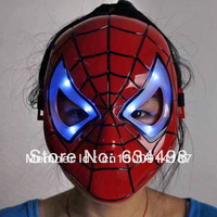 FREE SHIPPING LED Shiny Spiderman/Spider Man Mask Eyes/Halloween/Christmas/Masquerade Mask/Cosplay/Make up Toy