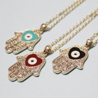 E0016 fashion accessories hand fatimamarried necklace hamsa hand necklace 12g