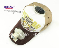 N.BAZEE children baseball cap boy solar battery fan solar fan caps summer bonnet