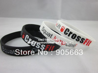 Squat Jump Climb Throw Lift CrossFit Cross Fit 2colours Wristband Bracelet,filled in colour,custom band,100pcs/lot,free shipping