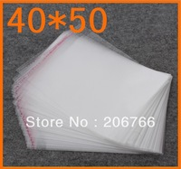 Free Shipping (100pcs/lot) Scarf Packing Big Size Self-adhesive Seal Opp Bag /Poly Bag For Wholesale 40*50CM