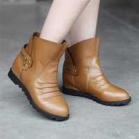 Promotion 2013 fashion japanned leather boots platform elevator flat heel snow boots casual single shoes women's shoes