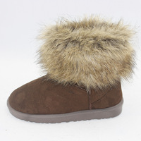Promotion Fox fur snow boots thermal snow boots short boots with slip-resistant female shoes
