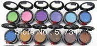 12 pcs / lot Professional makeup Single Eye shadow pigment with 24 different colors, free post shipping