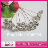 Free shipping+hot sale crystal top corsage pins for bouquet