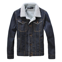 Men's clothing thickening denim coat outerwear denim jacket plus velvet denim top male
