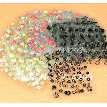 50x 3D Design Tip Nail Art Sticker Decal Manicure Mix Color Flower 50