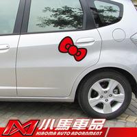 Car reflective car sticker three-dimensional cartoon bow personalized body c158