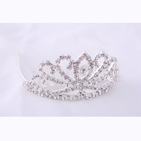 2013 New Free Shipping 6pcs/lot Fashion Mini Child Tiara Cute Rhinestone Princess Crown Wholesale Hair Accessories For Wedding