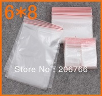 Free Shipping (2000pcs/lot) Self Sealing Zip Lock Plastic Bags Packaging Bags 6*8CM
