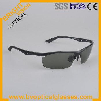 Stylish Man's Alloy aluminium sport polarized sunglasses with spring hinge (2110)