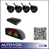 2013 Car parking aid system Wired reverse backup radar Alarm Beep LED Indicator Display +4 sensors wholesale freeshipping