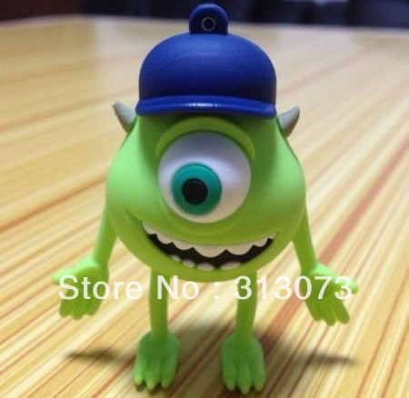 Cartoon one eye pen drive 1G/2G/4G/8G/16G/32GB/64GB usb flash drive Plastic Memory Stick pendrive Bulk free shipping(China (Mainland))