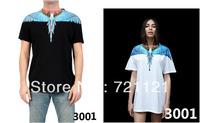 2013 Marcelo Burlon Men Women T-Shirt Tee Short Sleeve Unisex Shirt Wing Logo With Brand Tag Label 100% Cotton Casual Tee