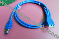 Free shipping 1.5m USB3.0 A male to Micro B cable for for Hard Disk Drive 100PCS/LOT