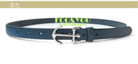 Fashion fresh fooyoo navy style first layer of cowhide buckle women's strap genuine leather belt blue green