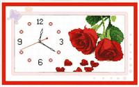 Print mona lisa cross stitch rose eternal rose clock and watch 46*28CM