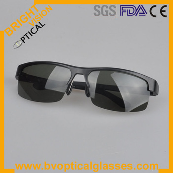 Free Shipping Man's Alloy aluminium sunglasses with spring hinge for sport (8053)