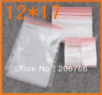 Wholesale(200pcs/lot) Jewelry Packing Ziplock Zip Zipped Lock Reclosable Plastic Poly Clear Bags Drop Shipping 12*17cm