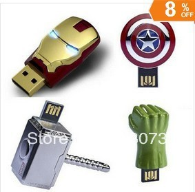 Iron Man Usb Fash Drive pen drive Usb Drive 1GB/2GB/4G/8GB/16GB/32GB/64GB USB Memory Stick(China (Mainland))