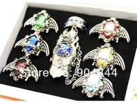 2012 Fashion 8pcs Cosplay Katekyo Hitman Reborn Jewel Rings set Free Shipping