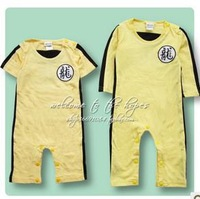 Retail 2013 New baby Pure cotton Strong storm Bruce Lee Commemorative Edition Rompers,Yellow,70-80-90-95,Free shipping