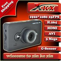 NEW Full HD 1920*1080 @25FPS 5.0MP Car Recorder DVR Black Box Video Genssor + HDMI + H.264 + LED Light + FreeShipping