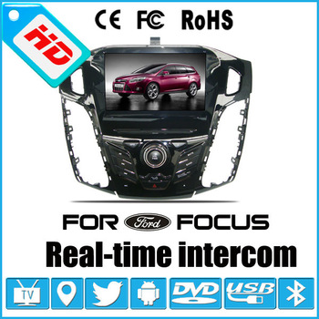 For ford focus 2012 Android 4.0&Wince 6.0 double os car dvd player,car dvd gps,1 din 8 inch car player
