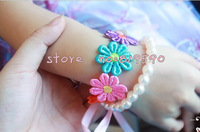 Mix $15) free shipping/ new Pearl Children's Bracelets/flower Colorful Candy Bracelet/bracelets for kids/necklace &bracelet set.