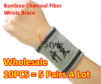 Wholesale 5 Pairs A Lot Wrist Brace Guard Wrap 1 Pair = 2PCS Wrists Support Elastic Brace Sports Pads with Far Infrared