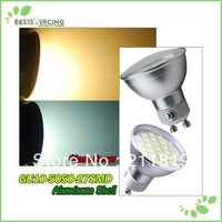 5pcs/lot  GU10 27 SMD 5050 Led Day / Warm White Light  Bulb Good Quality Non-dimmable Led Room Light