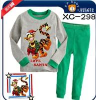 2014 new style children's clothing, long-sleeved t - shirts, pants, children's pajamas, boy tigger pajamas