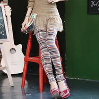 61732555 2013 autumn stripe all-match gentlewomen legging