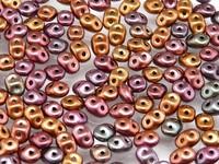 Czech Two-Hole Seed Beads SUPERDUO (2,5x5mm)   METALLIC MIX (RK1172)