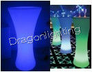RGB remote control PE luminous furniture cocktail table/LED table for party ,bar  ,home use