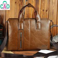 Restore ancient ways bag in high quality leather briefcase handbag business casual one shoulder men messenger bag men's bags