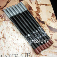 Super hotting Leopard Waterproof Brown and black  Eyebrow Pencil MakeUp Free shipping 12Pcs/Lot~~(2 colors)