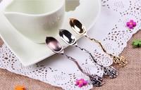 free  shipping  7pcs/lot  Retro coffee spoon luxury european-style small spoon sauce spoon lovely spoon