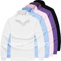 2013 New Men's Sport Polo t shirt Long-sleeve Fashion t-shirt  100%cotton male Casual T-SHIRT 6 Size 11 colors