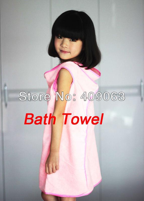 Children Beach Bathrobe Micro Fiber Kids Bath Towel For Home Quick-Dry Towel Bath Skirt Free Shipping(China (Mainland))