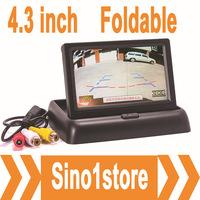 Free Shipping! 4pcs/lot 2Ch input Foldable Car Rear View Monitor