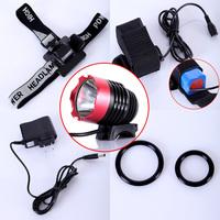 Free shipping! CREE XML XM-L T6 LED Bike Bicycle Light HeadLight HeadLamp 1200LM 9W + 8800mA Li-ion Battery